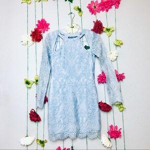 For Love and Lemons eternal love blue lace dress S